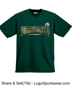 Southern Gorillaz T-Shirt (Hunter Green/Black/Gold) Design Zoom