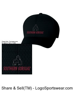 Southern Gorillaz Fitted Cap Design Zoom