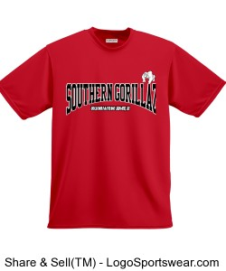Southern Gorillaz Bowling (Non Compression-But same material)T-Shirt Red (Columbia-Irmo, SC) Design Zoom