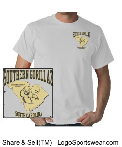 Southern Gorillaz Gildan  Cotton Adult T-shirt Design Zoom