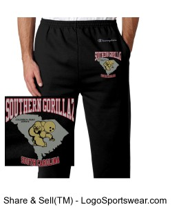 SG Sweat Pants (Black w/ Grey and Red Lettering) Design Zoom
